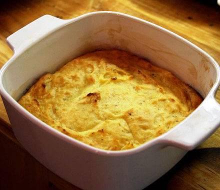 Картофельно-сырное суфле «однако, сюрприз!»