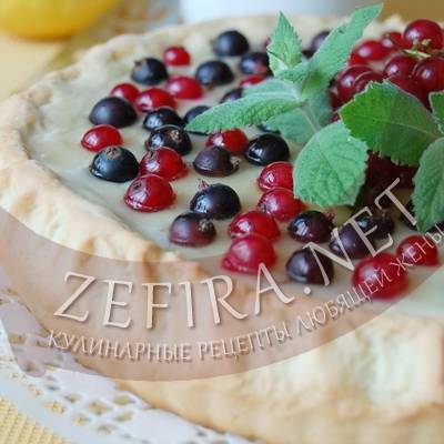 Летний тарт с заварным кремом и малиной - изумительно вкусный десерт