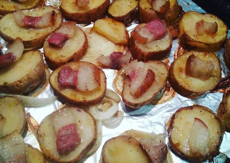 Картошка с салом в духовке, рецепт с фото