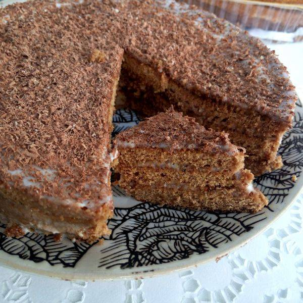 """Быстрый торт на сковороде """"пушинка"""""""