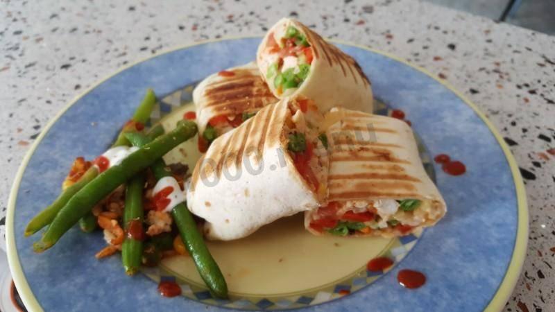 Рецепт буррито с курицей и фасолью пошагово с фото или готовим дома буррито
