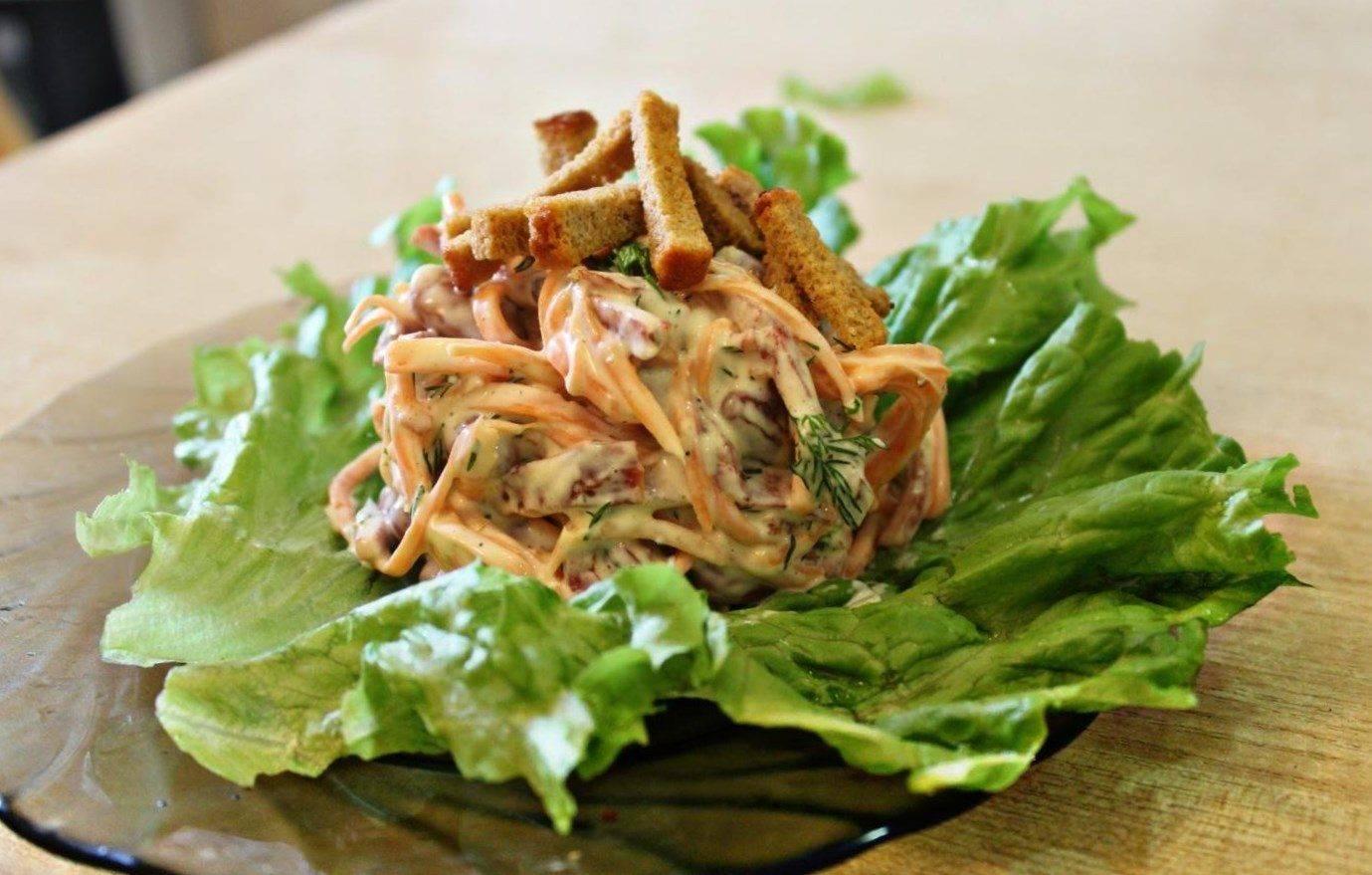 Салат с фасолью и морковкой по-корейски