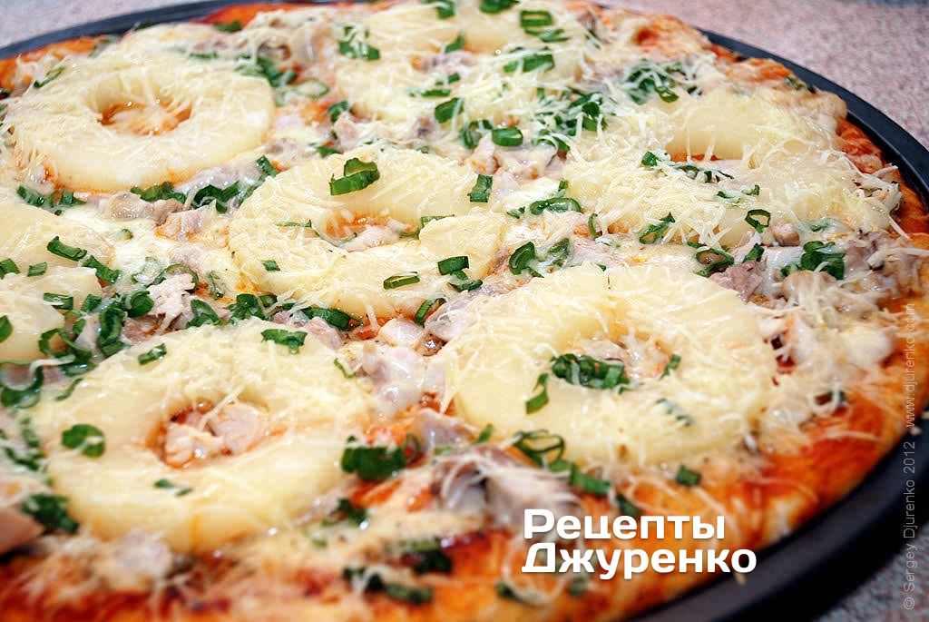 Нежная пицца с курицей