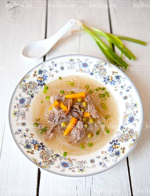 Суп из утки с домашней лапшой