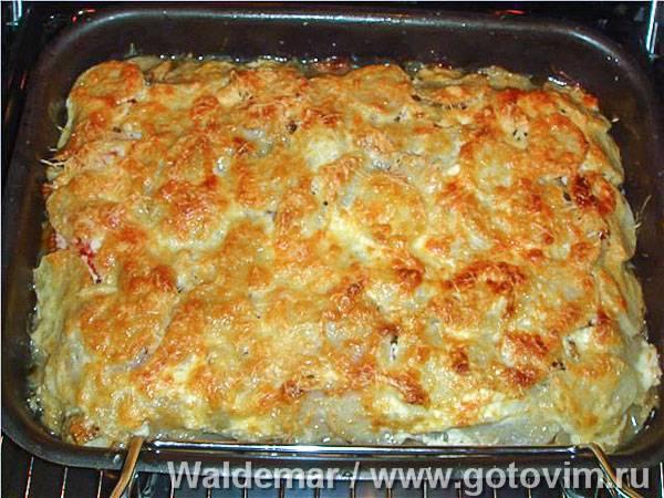 Отменная картофельная запеканка с рыбой