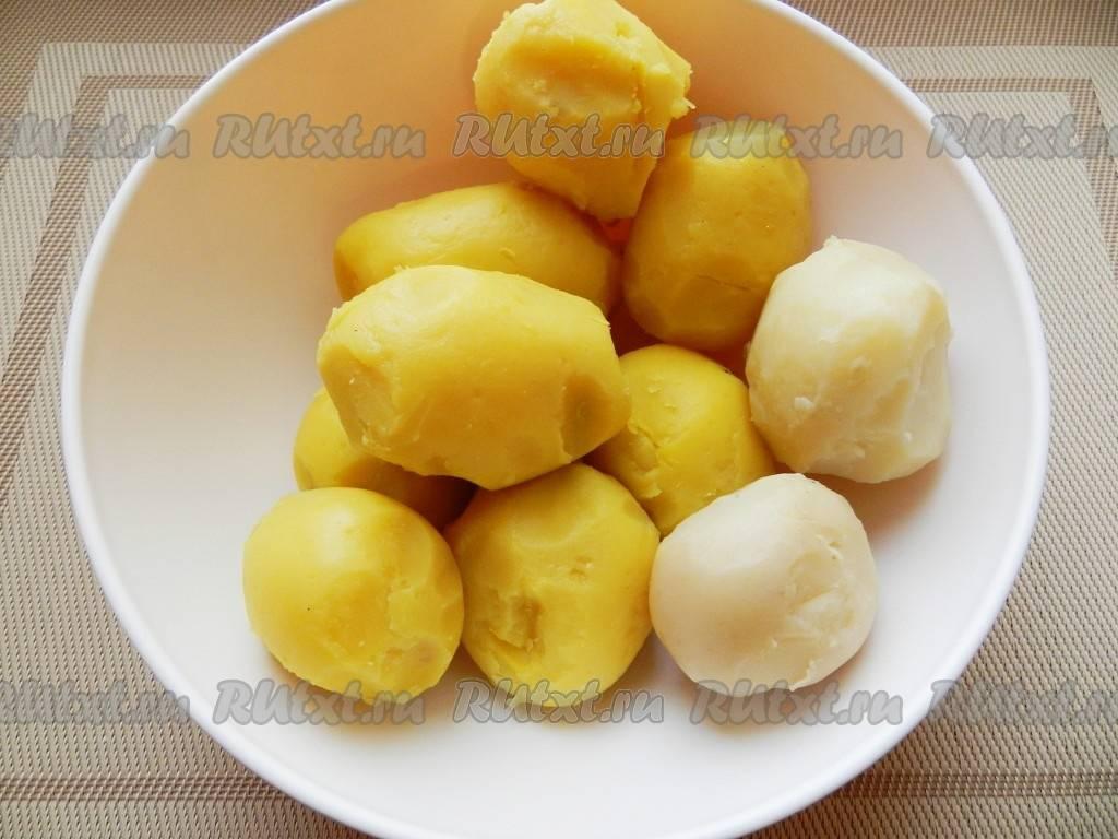 Зразы из картофельного теста с печенью