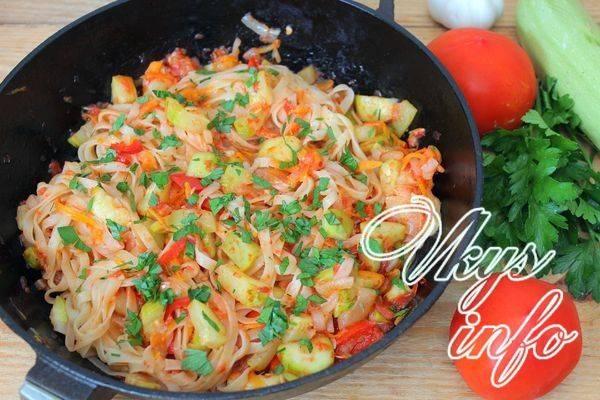 Паста рататулли с запечёнными овощами