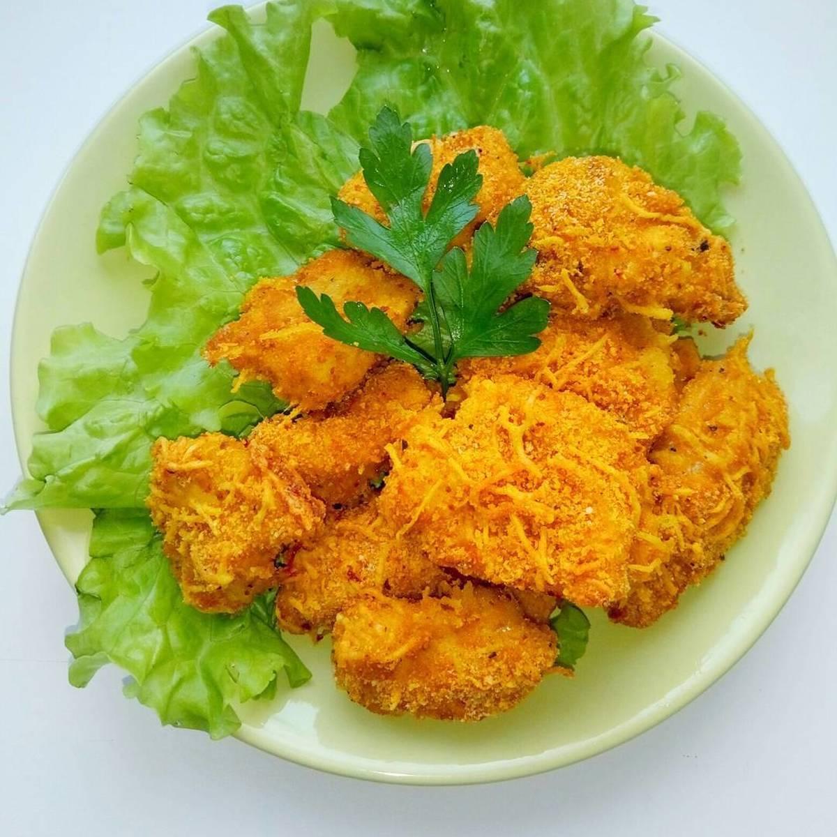 Хрустящее филе в сырной панировке - готовим вкусно