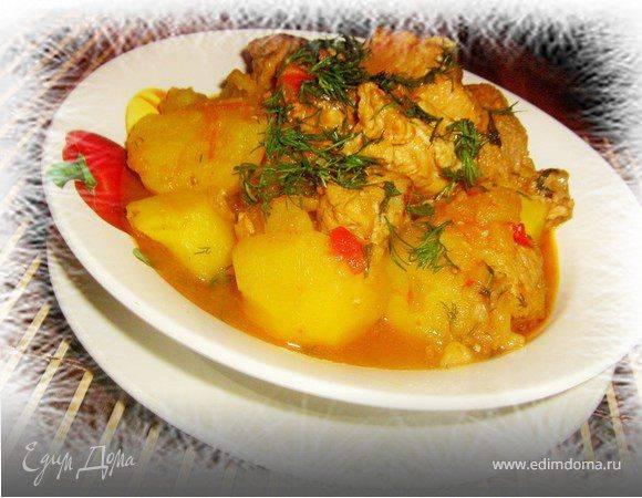 Как приготовить вкусную тушеную картошку с курицей в кастрюле