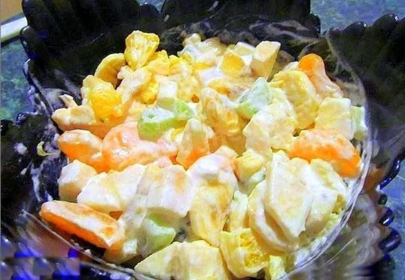 Как сделать фруктовый салат за 5 минут