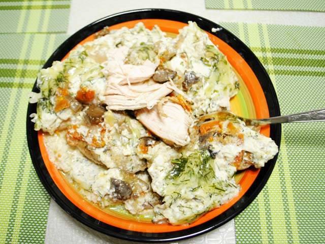 Куриные бедра в сливочном соусе