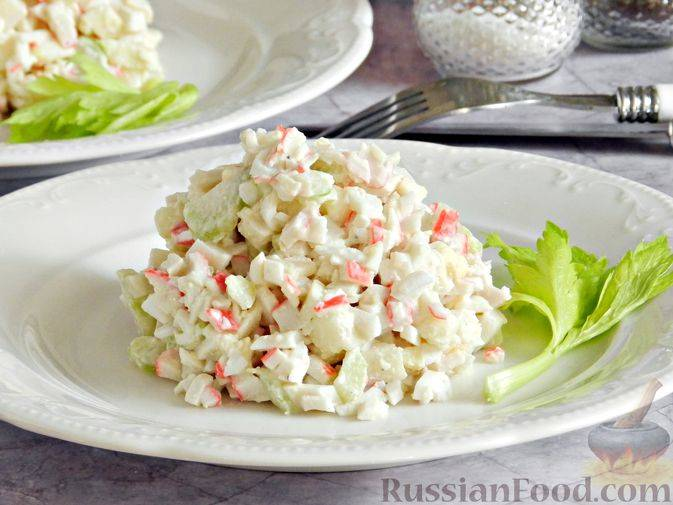 Рецепты салатов с крабовыми палочками и сельдереем