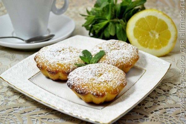 Лимонные кексы на манке