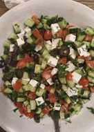 Говядина, запеченная с овощами и фетой