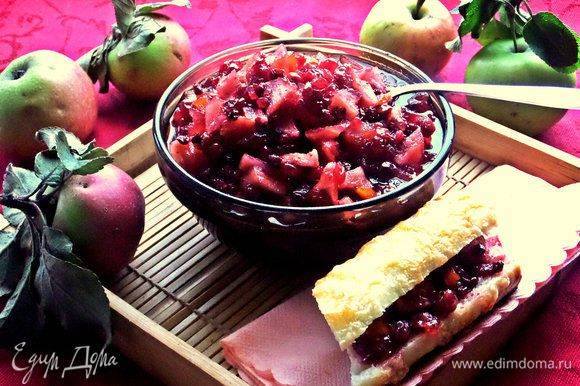 Как варить варенье из брусники с яблоками?