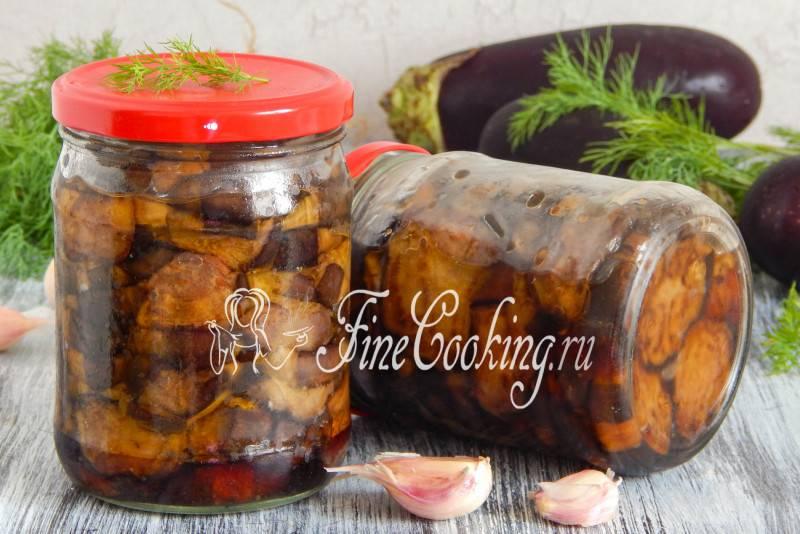Жареные баклажаны с чесноком на зиму - рецепты с помидорами, перцем, с уксусом и со вкусом грибов