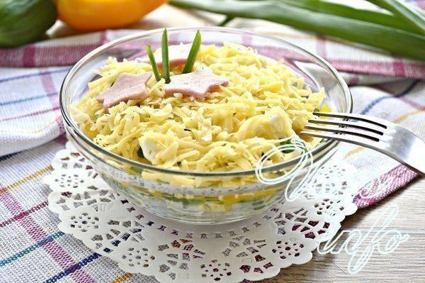 Салат с макаронами и ветчиной » рецепты - готовим дома | «наобед.kz»