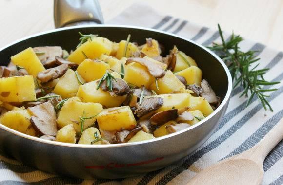 Шампиньоны с картошкой