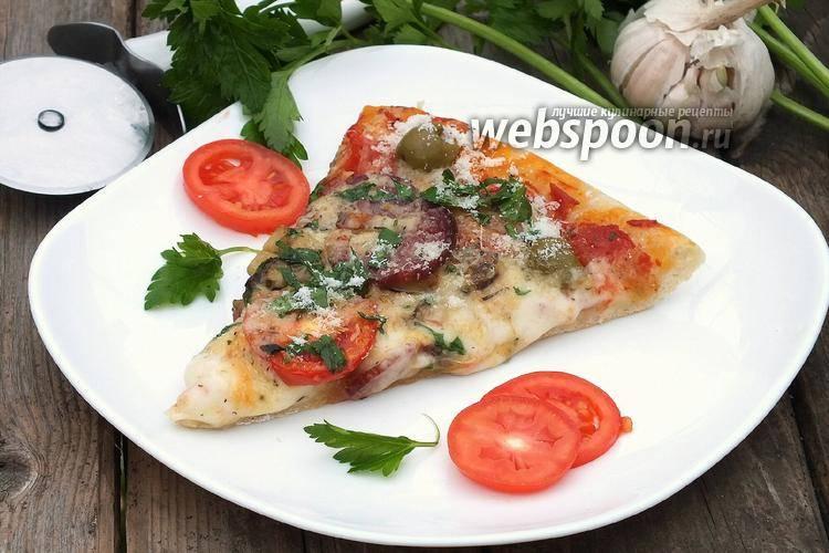 Как приготовить деревенскую пиццу (рецепт простой с фото пошагово)
