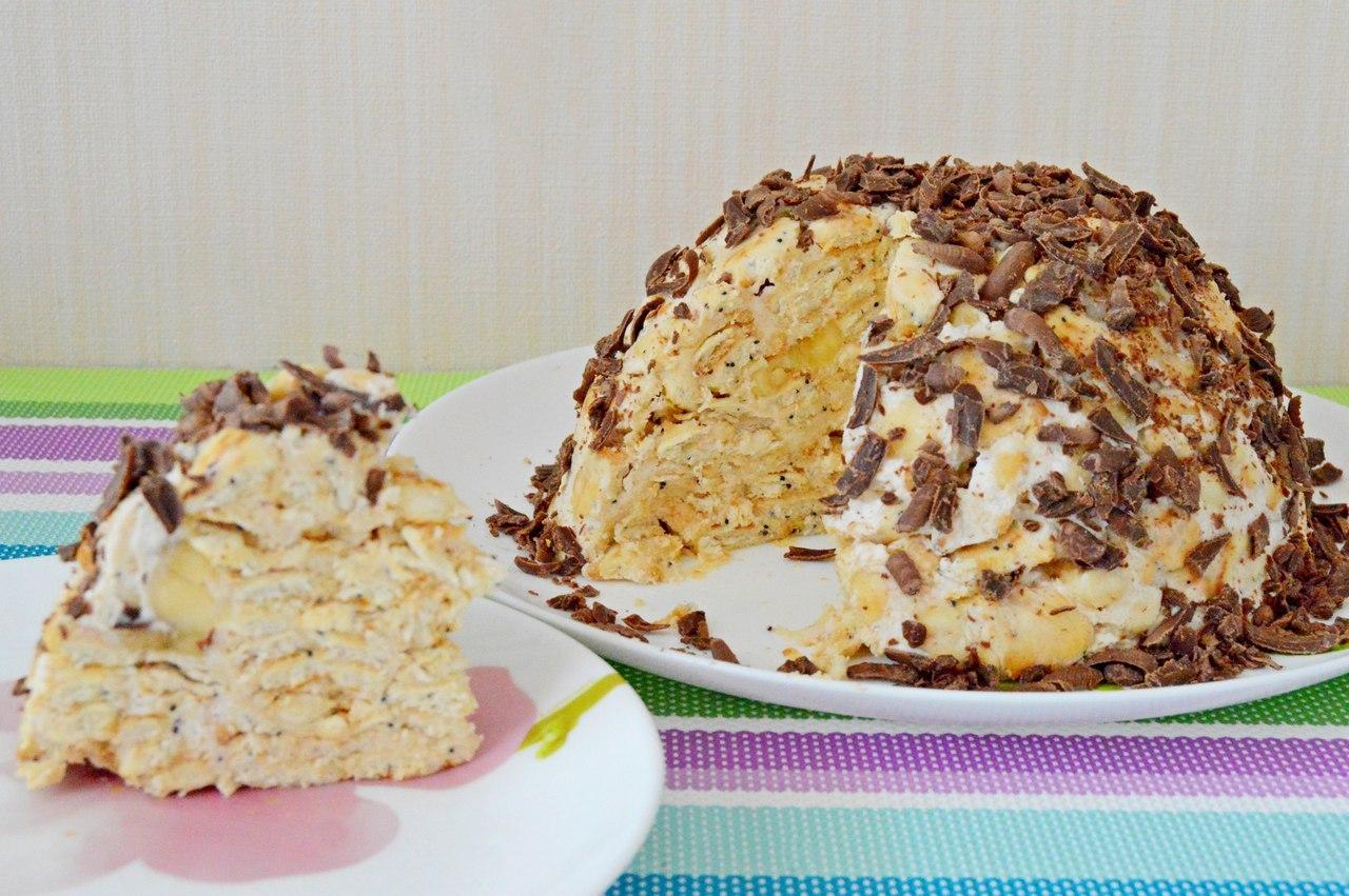 Сметанный торт без выпечки рецепт с фото