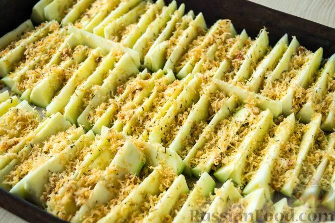 Золотистые палочки из кабачков с хрустящей корочкой - рецепт с фото