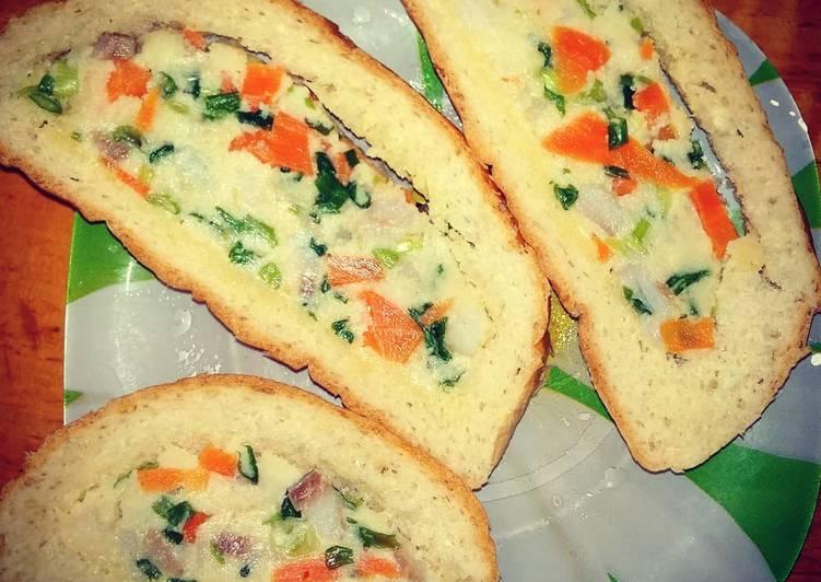 Хлеб с начинкой в духовке рецепт. фаршированный батон, запеченный в духовке — универсальный рецепт. рецепт приготовления запеченного батона с сыром и колбасой