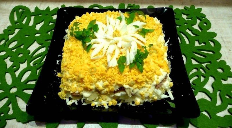 Салат хризантема » рецепты - готовим дома | «наобед.kz»