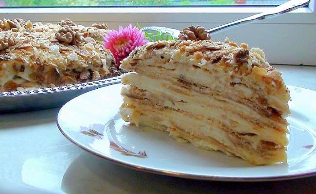 """Торт """"наполеон"""" классический (из домашнего теста) - пошаговый рецепт с фото на повар.ру"""