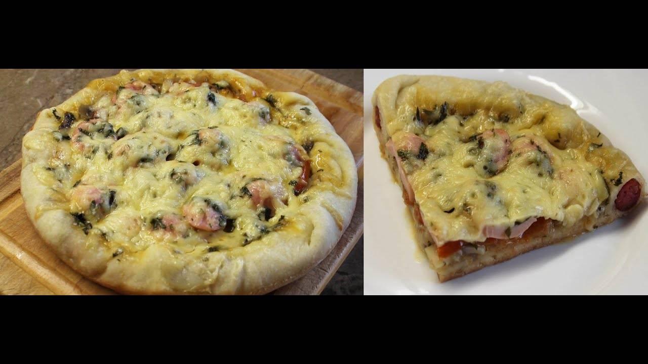 Быстрая пицца из хлеба