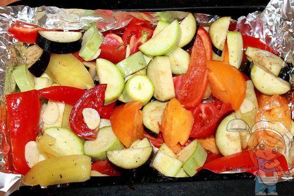 """Овощи, запеченные в духовке """"любимые"""""""