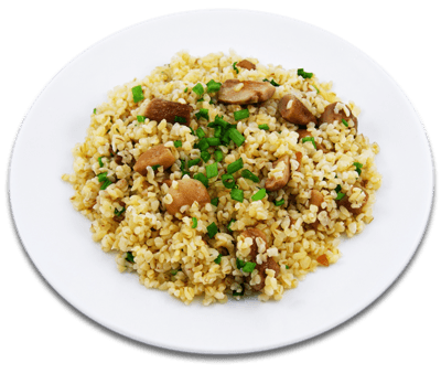 Кассероль с курицей, грибами и булгуром