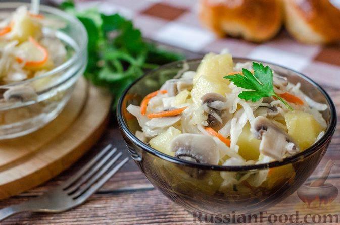 Салат с квашеной капустой и сыром