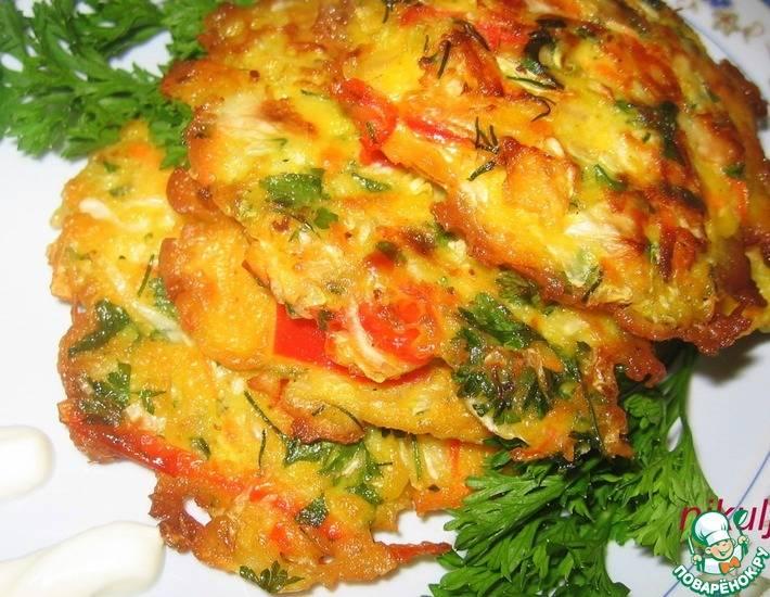 Драники с овощами