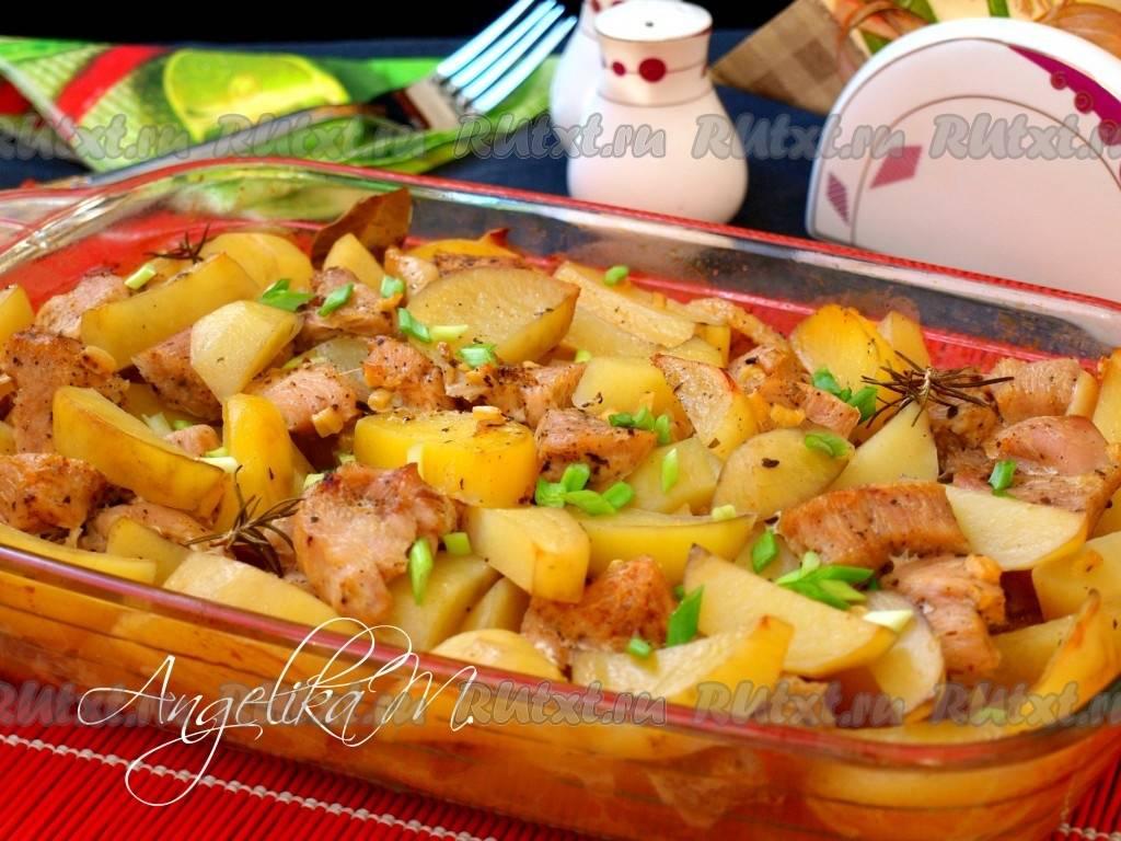 Курица с карри, консервированным ананасом и разными овощами