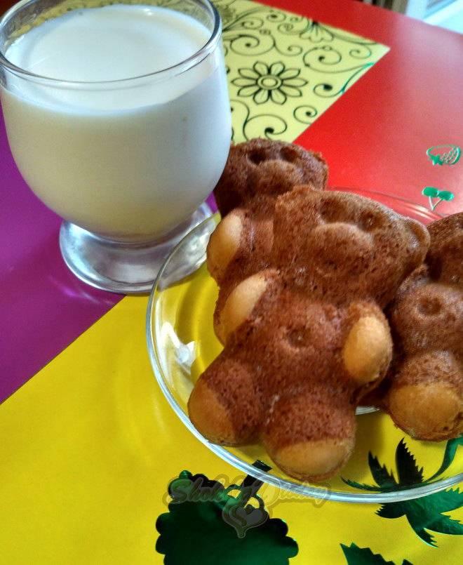 Печенье мишки с орехом