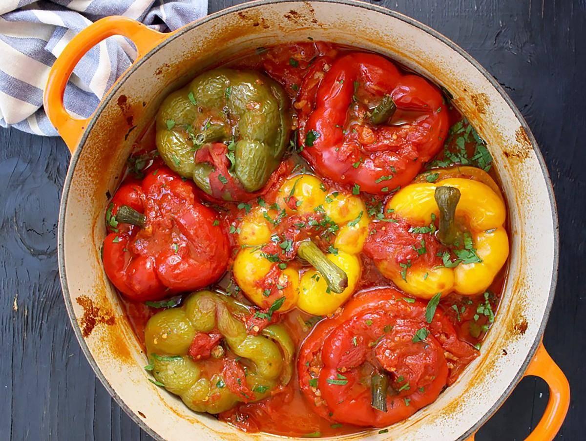 Перцы фаршированные мясом и рисом: рецепт с фото пошагово