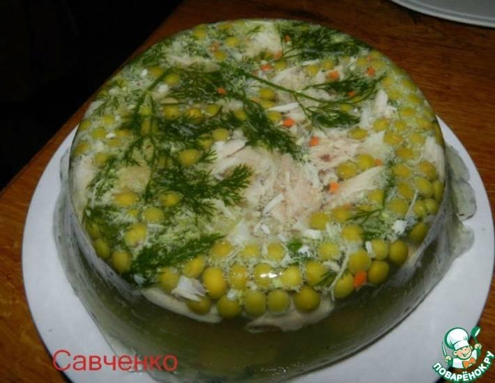 Холодец из курицы и говядины с желатином - 11 пошаговых фото в рецепте