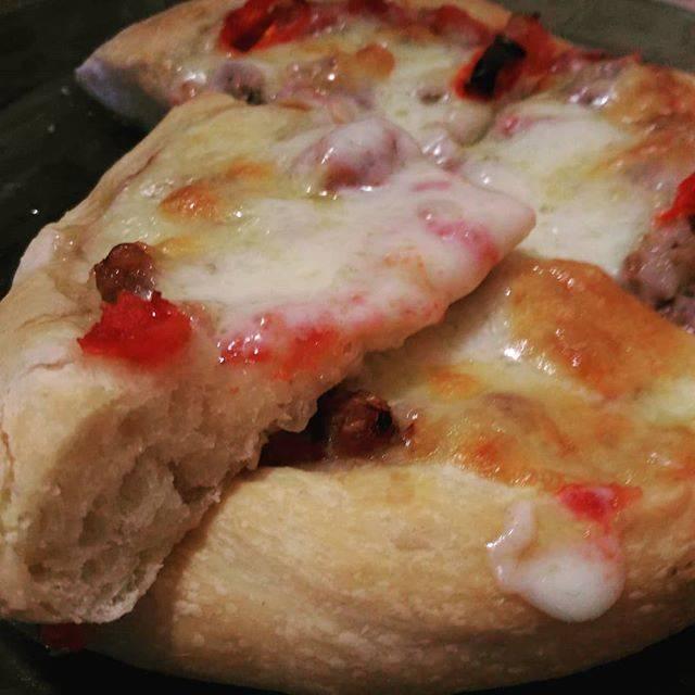 """Пицца """"Влюблённая парочка"""" в батоне"""