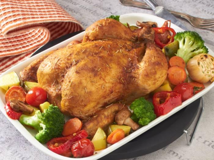 Запечённая курица по-провански