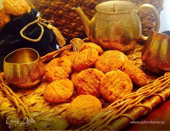 Печенье домашнее с курагой