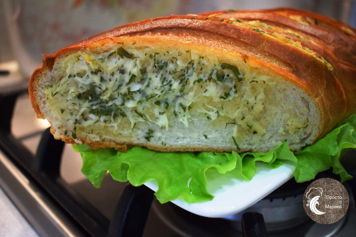 Как сделать чесночный хлеб за 15 минут