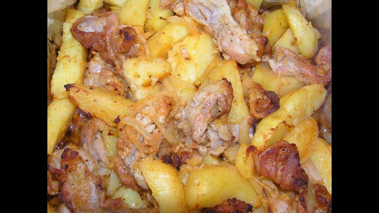 Картофель с беконом и мягким сыром