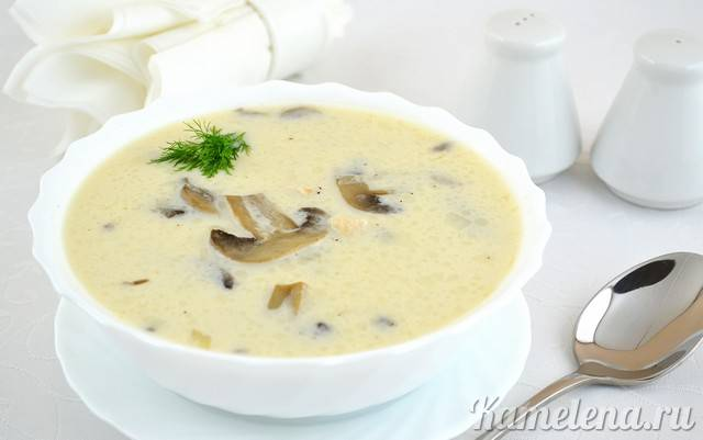 """Грибной суп """"душевный!"""""""