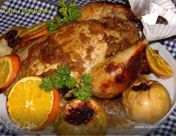 Куриные грудки с горчицей и медом в духовке