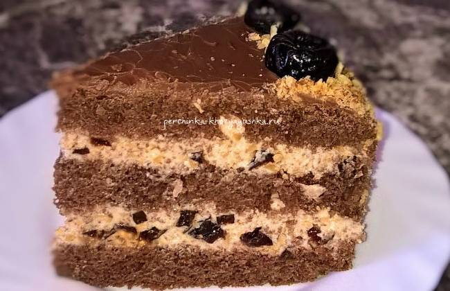 """Торт """"чернослив в шоколаде"""""""