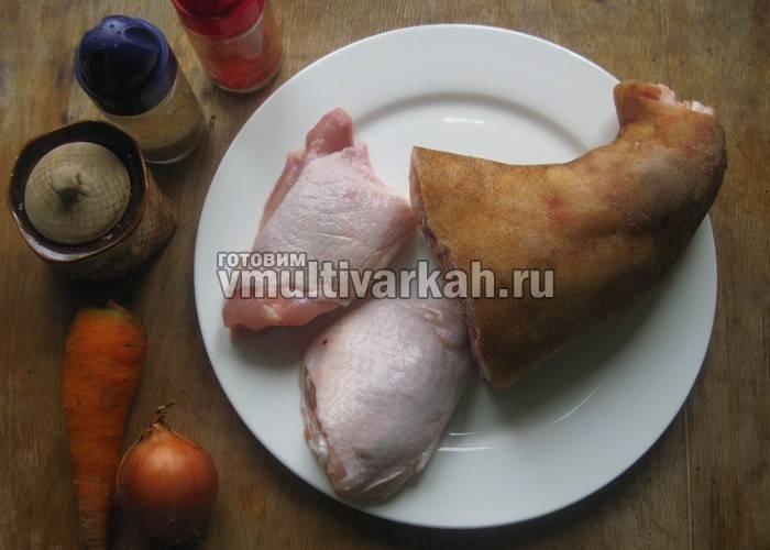 Холодец из свинины без желатина