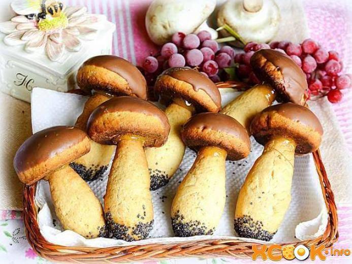 Печенье грибы - рецепт с фотографиями - patee. рецепты