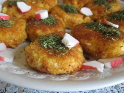 Картофельные котлеты с крабовыми палочками - пошаговый рецепт с фото    разное