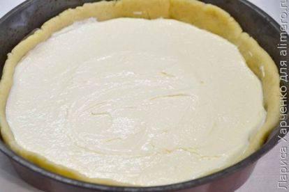 Пирог с вишней рецепт  открытый пирог с творогом в духовке
