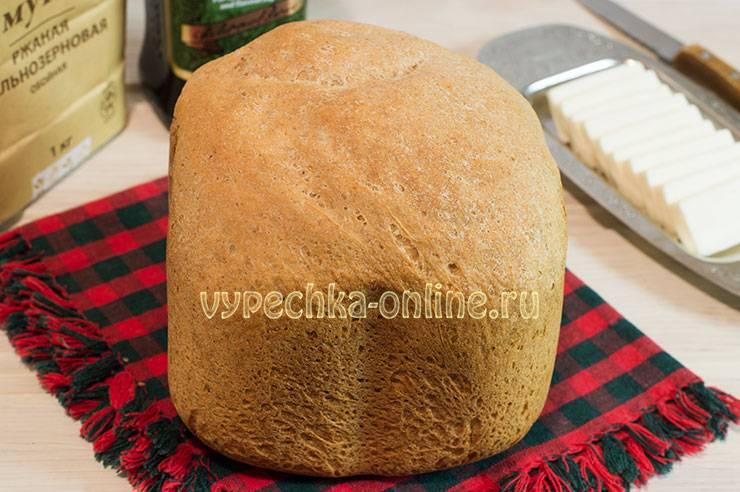 Хлеб из 100% цельнозерновой муки в хлебопечке vs белый хлеб